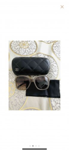Chanel Angular Shaped Sunglasses grey