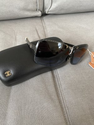 Chanel Oval Sunglasses black-white