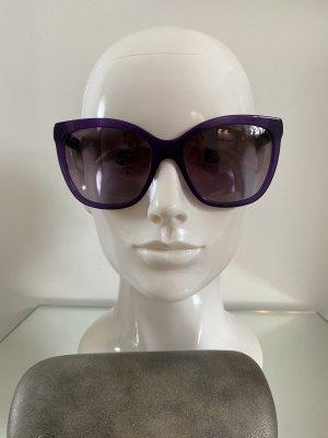 Chanel Gafas de sol ovaladas violeta oscuro-azul oscuro