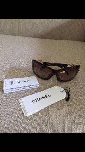 Chanel Hoekige zonnebril donkerbruin