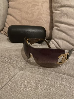 Chanel Glasses brown-gold-colored
