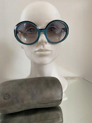 Chanel Okrągłe okulary przeciwsłoneczne czarny-jasnoniebieski