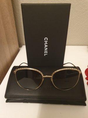 Chanel Lunettes rondes doré-gris foncé