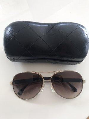 Chanel Gafas de piloto negro-color oro