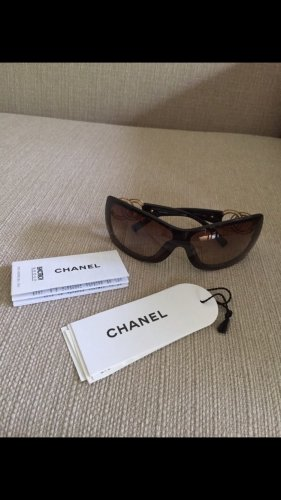Chanel Angular Shaped Sunglasses dark brown