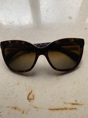 Chanel Lunettes papillon marron clair-brun noir