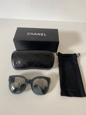 Chanel Occhiale a farfalla petrolio Tessuto misto