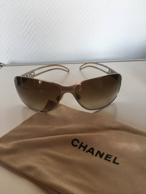 Chanel Lunettes de soleil ovales argenté