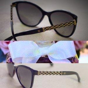 Chanel Occhiale a farfalla nero-bronzo