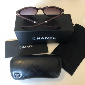 Chanel Oval Sunglasses bordeaux