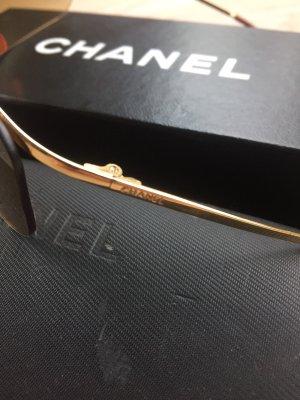 Chanel Occhiale oro-marrone chiaro