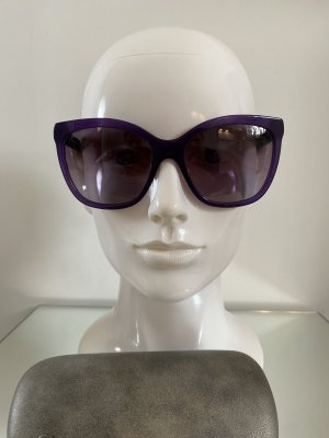 Chanel Oval Sunglasses dark violet-dark blue