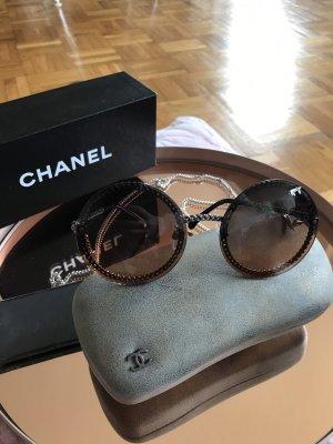 Chanel Ronde zonnebril veelkleurig