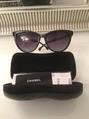 Chanel Lunettes papillon noir-argenté