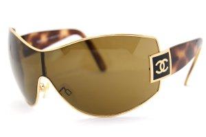 Chanel Bril goud-bruin Acetaat