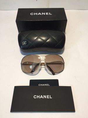 Chanel Lunettes aviateur doré-marron clair métal