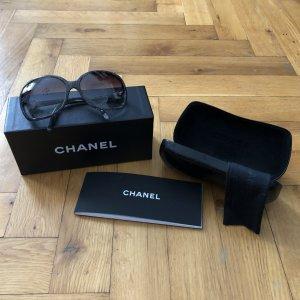 Chanel Hoekige zonnebril veelkleurig