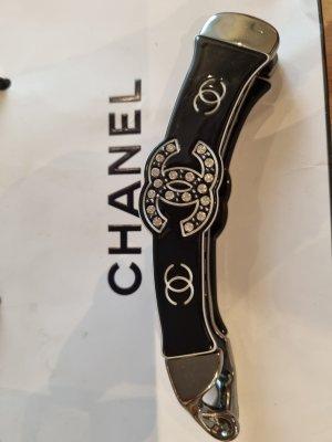 Chanel Spilla per capelli bianco-nero