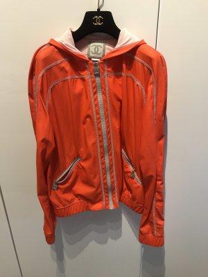 Chanel Giacca con cappuccio arancio neon