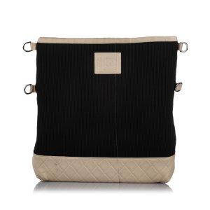 Chanel Torba na ramię czarny Bawełna