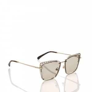 Chanel Sunglasses beige metal