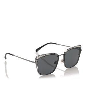 Chanel Gafas de sol negro metal