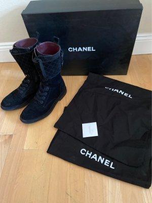 Chanel Botas bajas negro Cuero