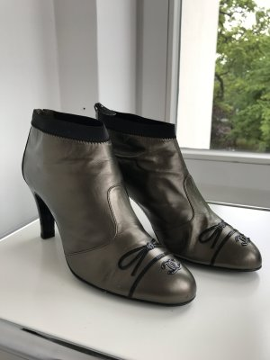 Chanel stiefelette booties bronze  black 38,5