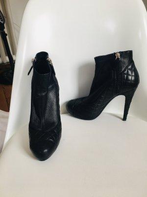 Chanel Platform Booties black