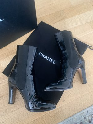 Chanel Slip-on Booties black leather