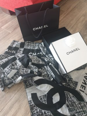 Chanel Écharpe en laine noir
