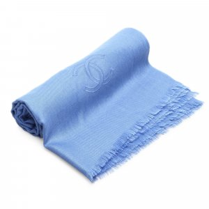 Chanel Scarf blue silk