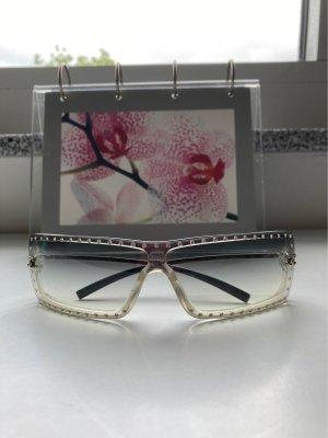 Chanel Hoekige zonnebril zilver-grijs