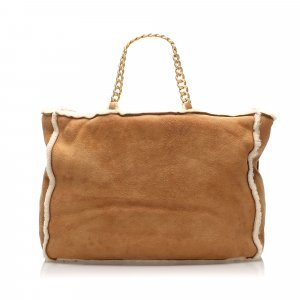 Chanel Tote brown suede