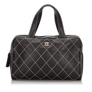 Chanel Surpique Leather Handbag