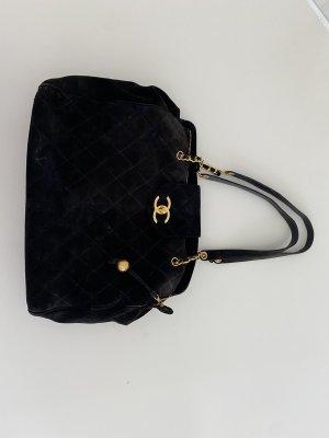 Chanel Sac de voyage noir cuir