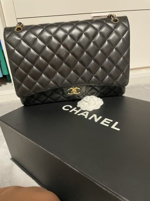 Chanel Shoulder Bag black-gold-colored