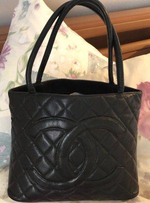 Chanel Shopper zwart Leer