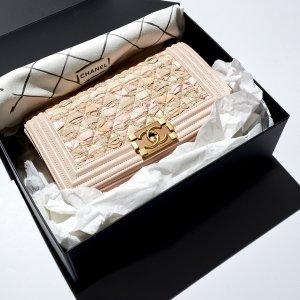 Chanel Sac à main or rose-rosé