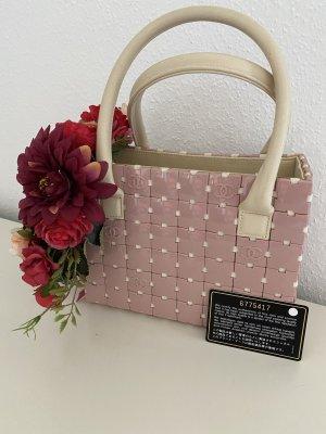 Chanel Tasche Puzzle Rosa/ Creme Leder mit ID Card Luxus Pur!