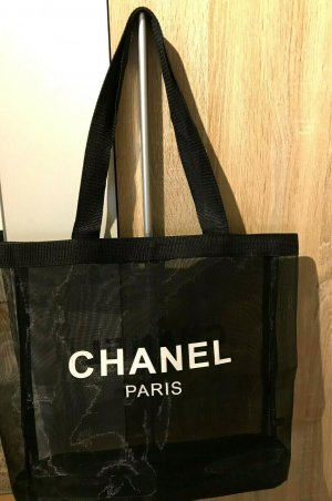 Chanel Carry Bag black-white polyacrylic