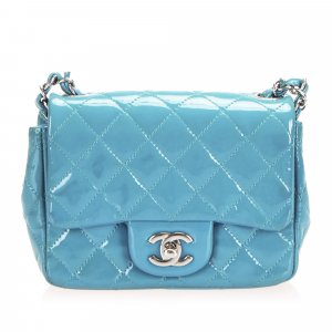 Chanel Timeless Classic Patent Leather Flap Single Mini Square