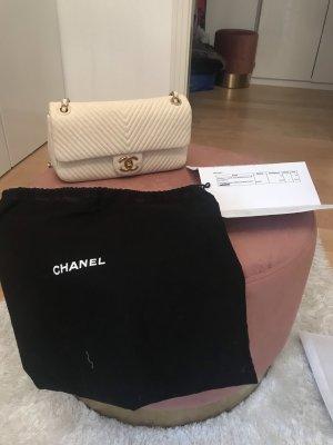 Chanel Timeless Flap Bag in Chevron  ecru