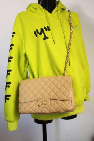 Chanel Timeless Jumbo Caviar Leder beige ID Card Magnetbox Dustbag wie neu