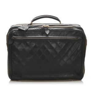Chanel Serviette noir cuir