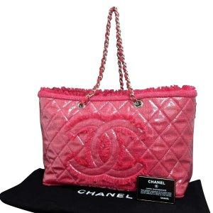 Chanel Borsetta rosa pallido Tessuto misto
