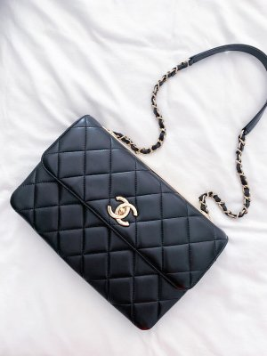 Chanel Carry Bag black-gold-colored