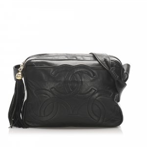 Chanel Triple Coco Lambskin Leather Crossbody Bag
