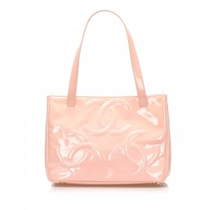 Chanel Triple Coco Patent Leather Tote Bag