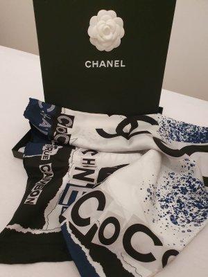 Chanel Bufanda de seda multicolor Seda